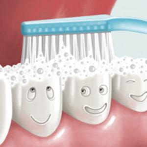 Cattiva abitudine di lavarsi i denti