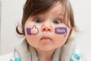 bambini su Facebook