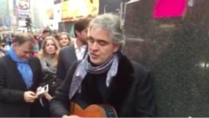 Andrea Bocelli a Times Square