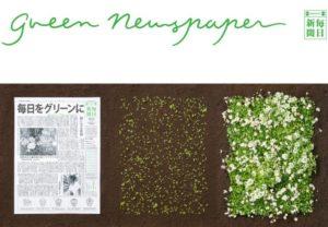 giornale diventa pianta