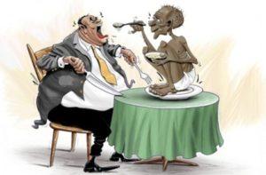 il ricco estremo causa il povero estremo