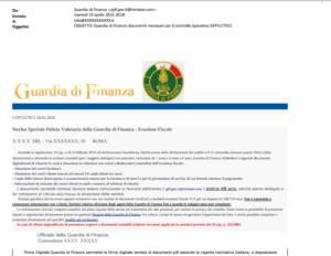 La truffa della falsa email inviata dalla Guardia di Finanza