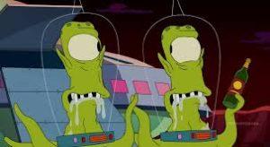 alieni sono di colore verde
