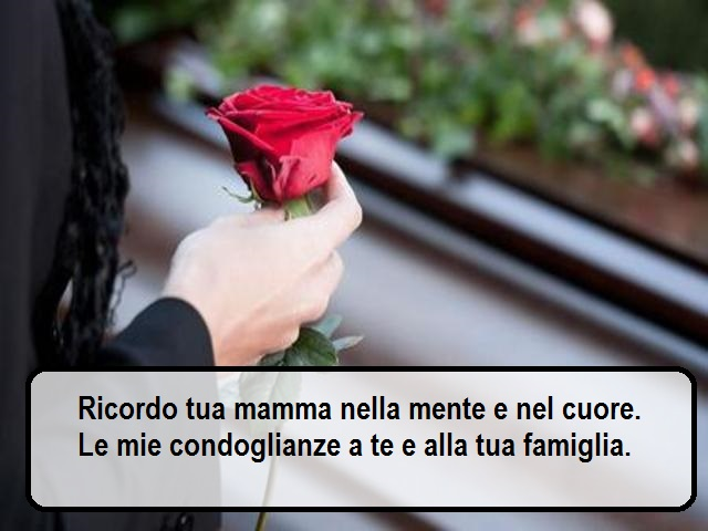 frasi condoglianze perdita mamma