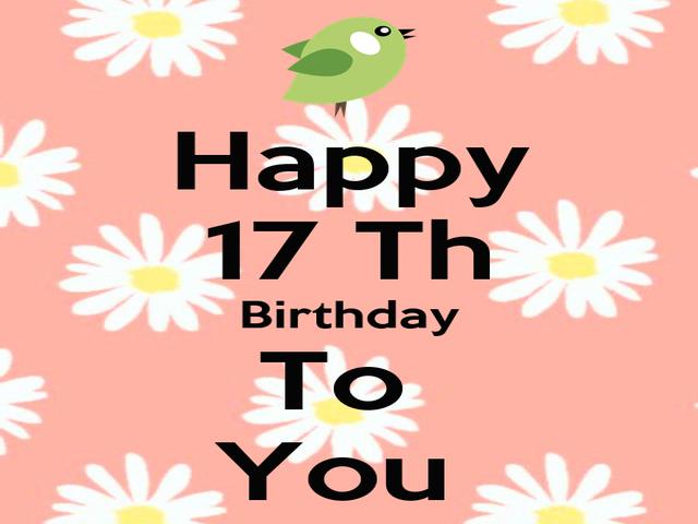 auguri di compleanno figlia 17 anni