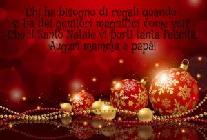 Auguri Di Natale Al Nipotino.Auguri Di Natale Per I Genitori Buon Natale Mamma E Papa Frasi