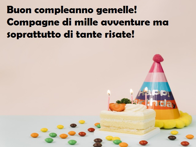 compleanno gemelli torta