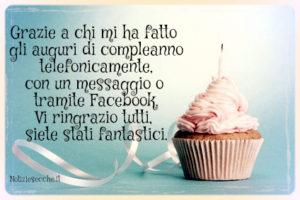 ringraziare auguri compleanno facebook