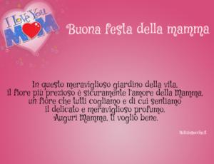 Buona Festa Della Mamma Frasi Di Auguri Per La Mamma
